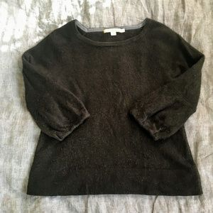 Boden Cashmere Cropped Lantern-Sleeve Sweater